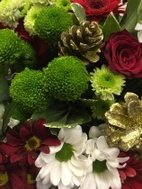 florist choice reds and golds Handtied