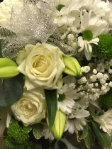 Florist choice white and silver