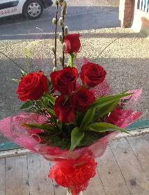 Six Red Rose Bouquet