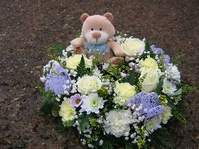 Wreath with teddy